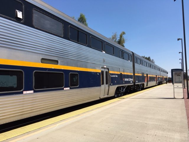 Catching the train from Richmond to Merced