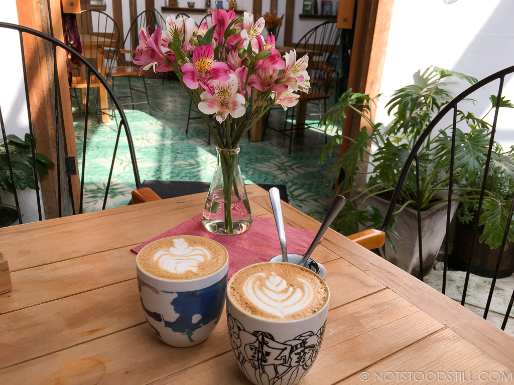 San Cristobal has great coffee shops - at Carajillo Café.
