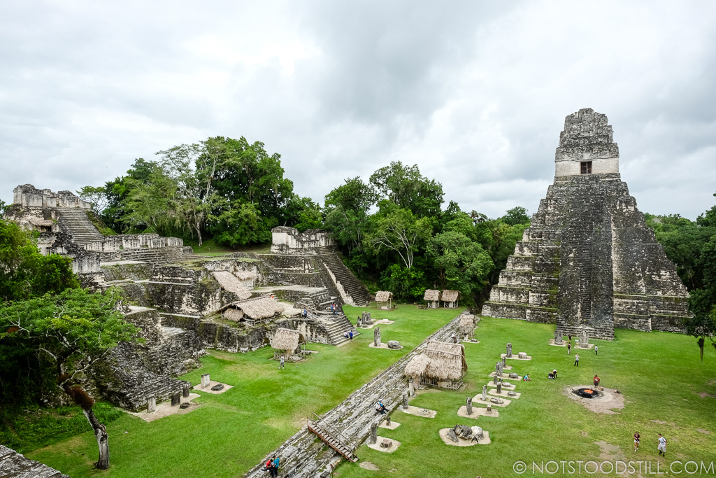 The Great Plaza, center of Tikal