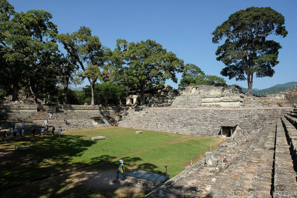 Copán Ruins, one of the many courtyards.