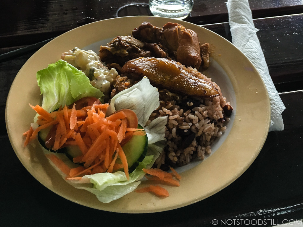 Belizean Favourite - our first rice & beans dish