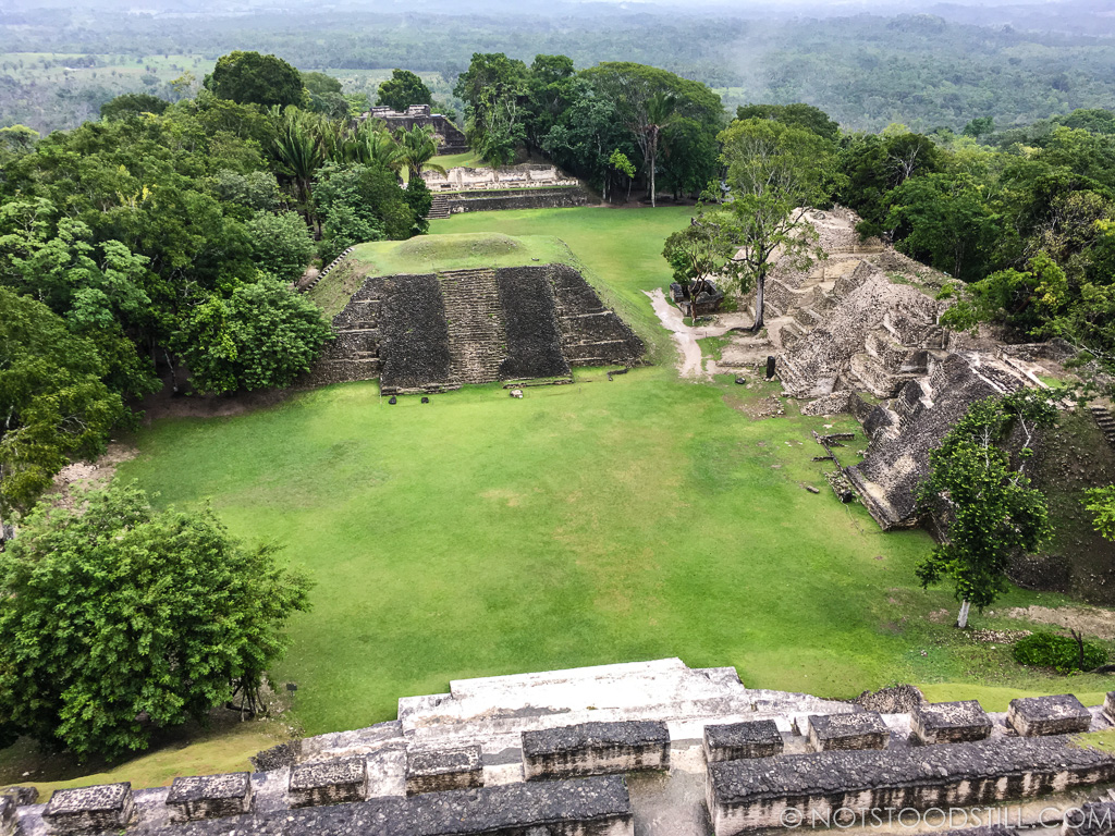 The site has four zones including plazas and temples.