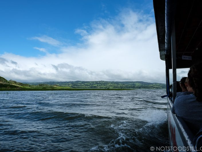Crossing the Lake Arenal from Monteverde to La Fortuna cutting the journey by half