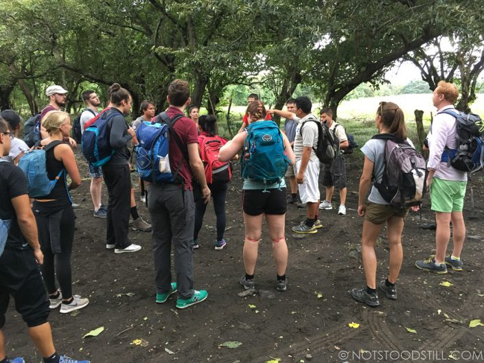 Group briefing before the hike.