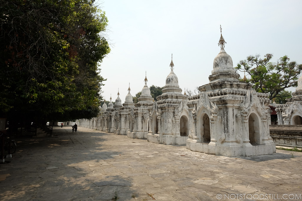 Kuthodaw Pagoda, surrounded by 729 inscribed stone slabs.