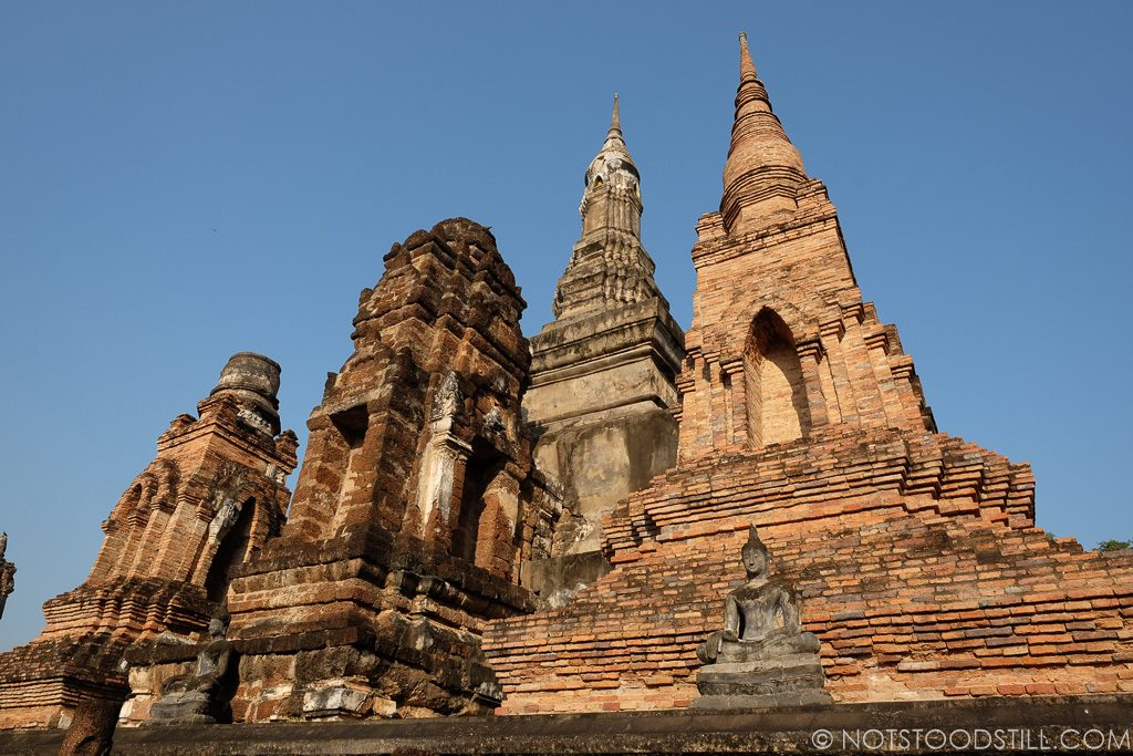 Wat Mahathat, a restored ruin at the centre of the Historical Park.