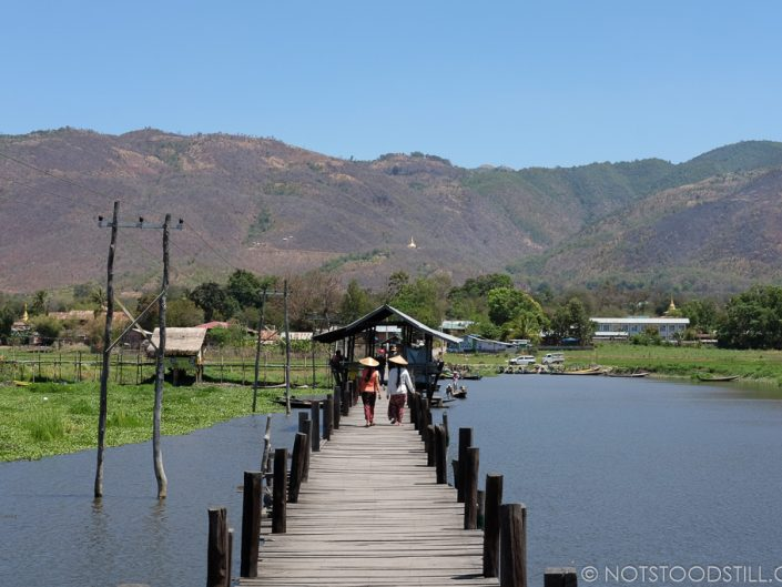 The wooden bridge Maing Thauk