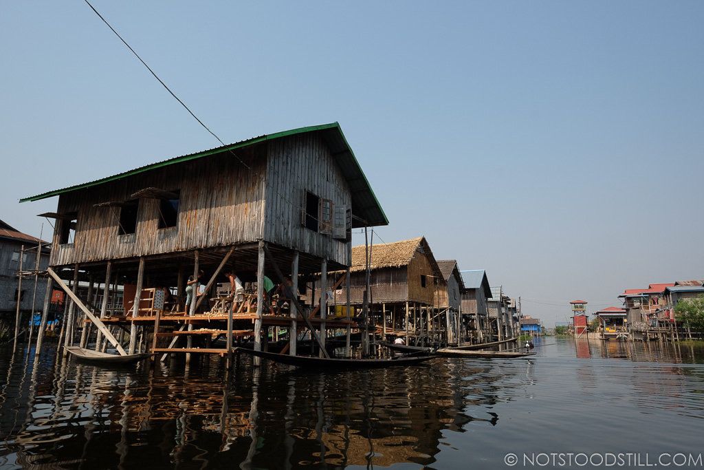 Homes and communities are built above the water