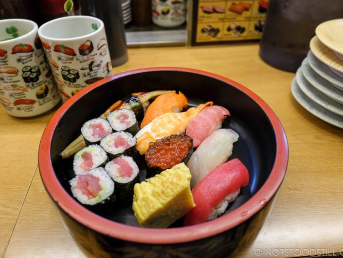 Sushi set at Sushi Daidokoya, Shibuya