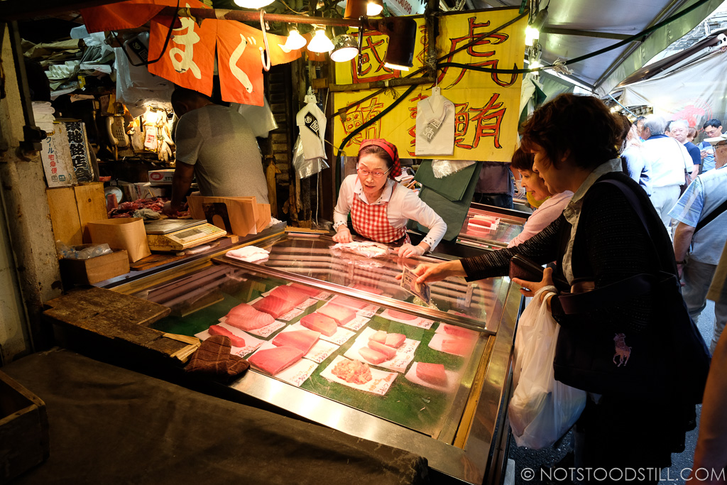 Tsukiji fish market vendor