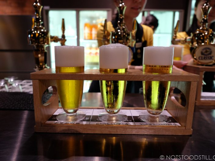 Beer tasting at Sapporo Brewery