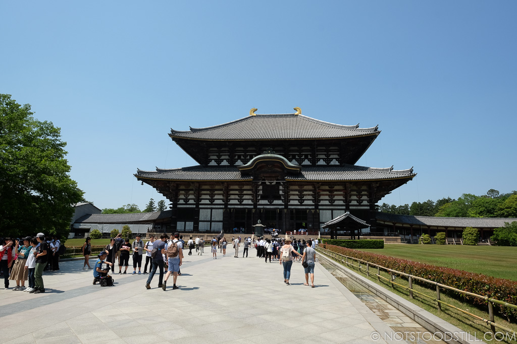 Todaiji Temple, the main hall is the world's largest wooden structure.