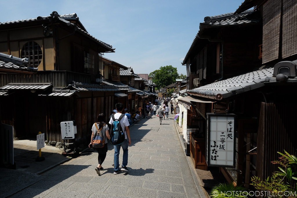 Walking the traditional streets of the Higashiyama District
