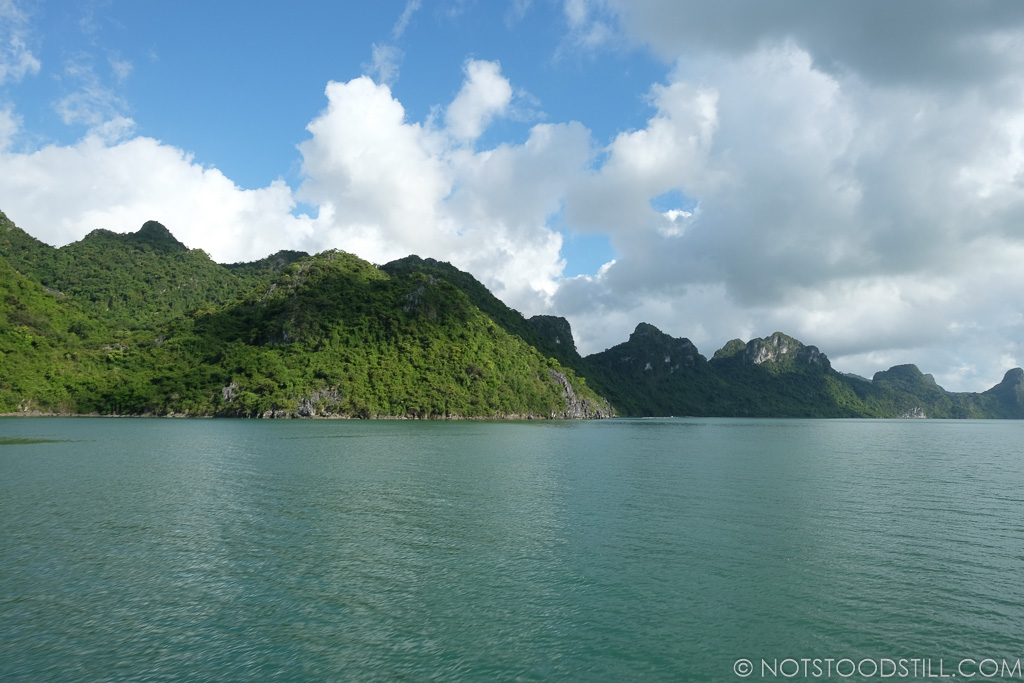 Bai Tu Long, the scenery was spectacular, at times we were the only boat, it was bliss!
