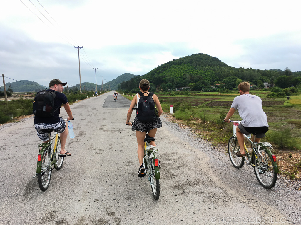 Cycling through the countryside on Cai Rong Island