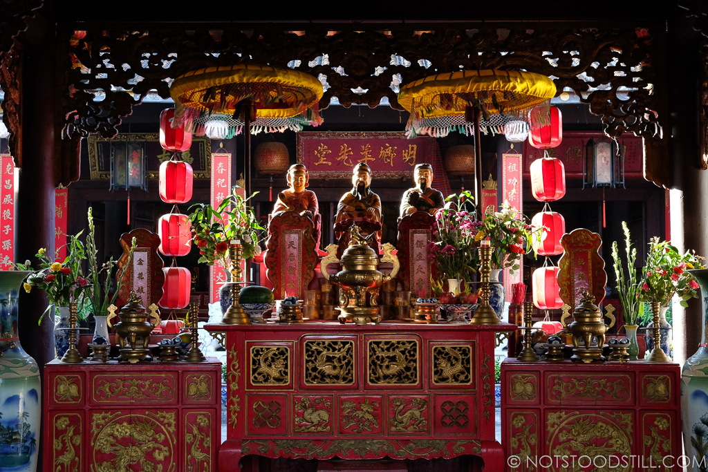 Inside one of the many Chinese temples