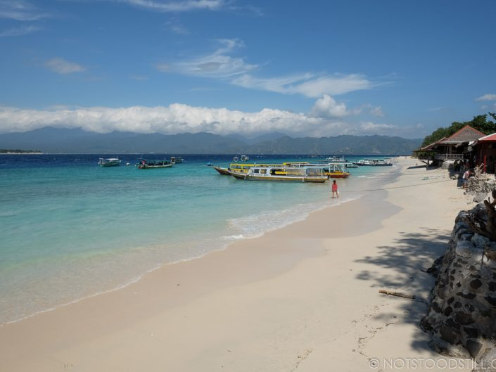 Gili Meno - the nicest beaches lie on the east of the island