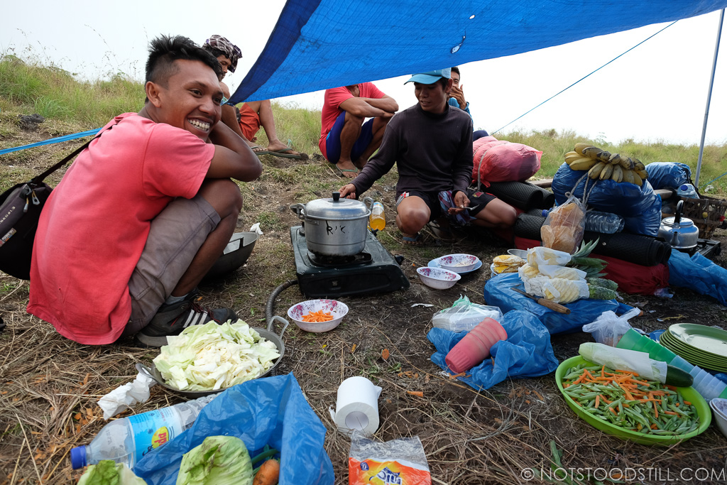 Our guide and porters preparing lunch