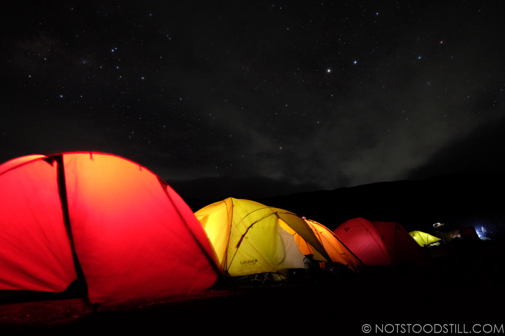 Time to get up, 2am for the hike to the summit for sunrise.