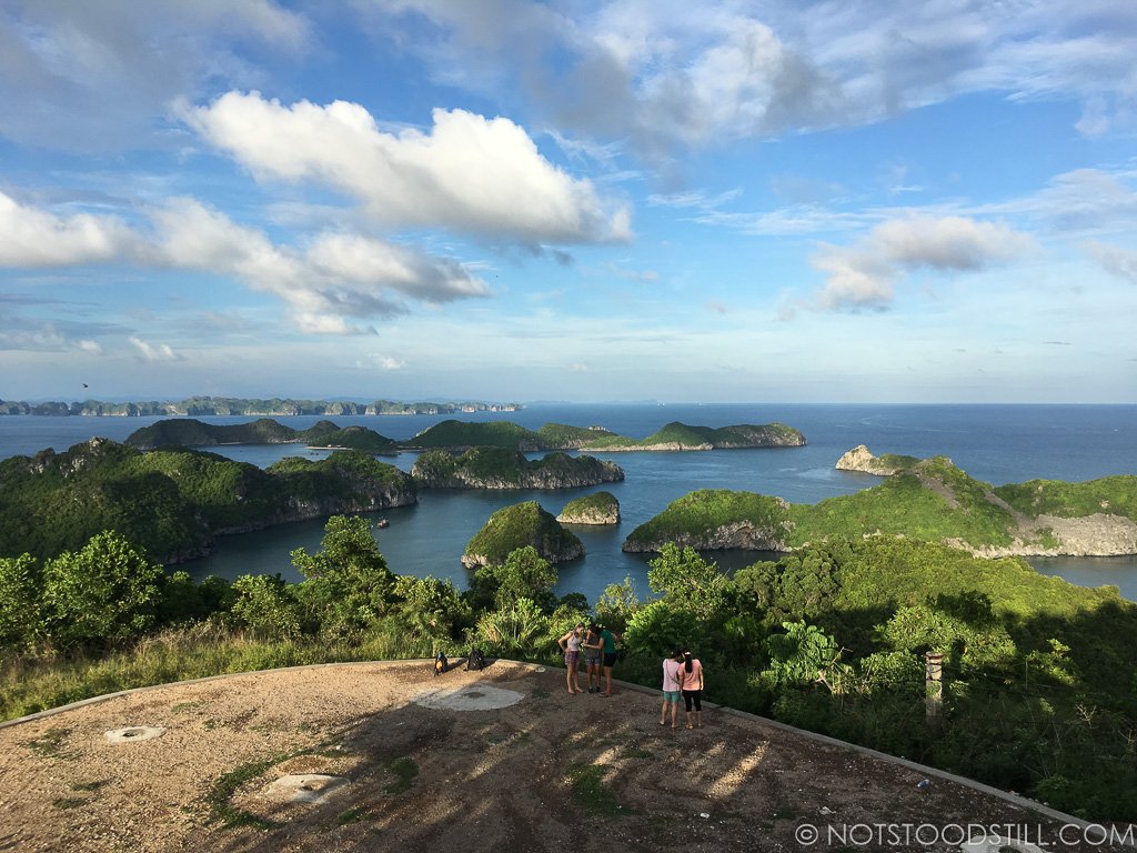 Splendid views of Lan Ha Bay from the top of Cannon Fort