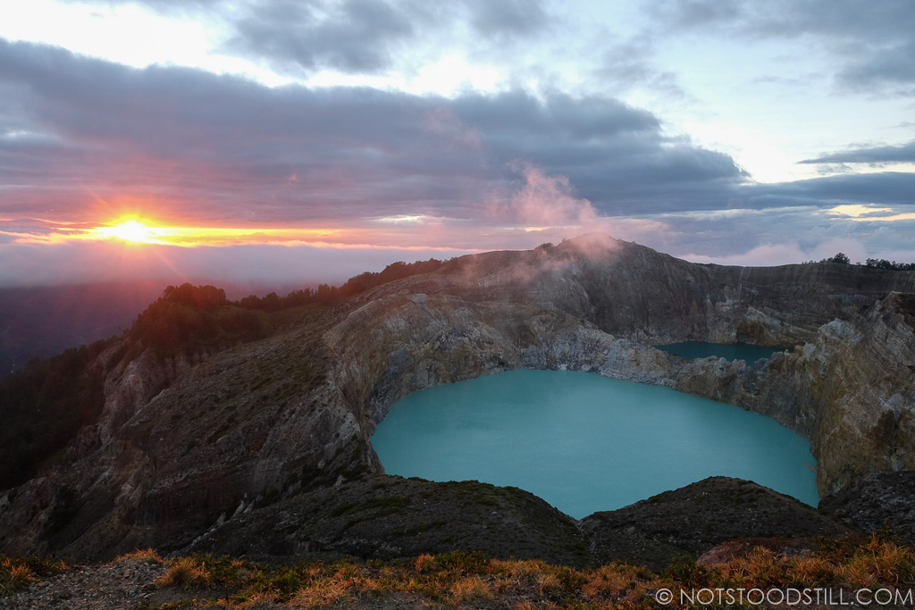Sunrise at Kelimutu Volcano