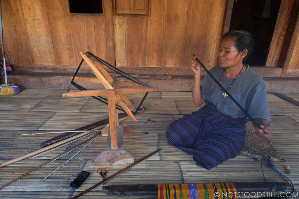 Villagers make crafts to sell to visitors.