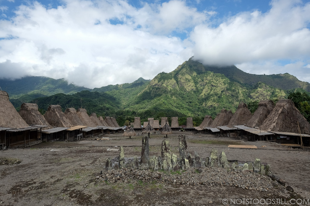 Gurusina Village set in a dramatic mountain scenery