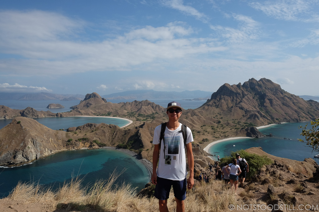 At the top of Padar Island