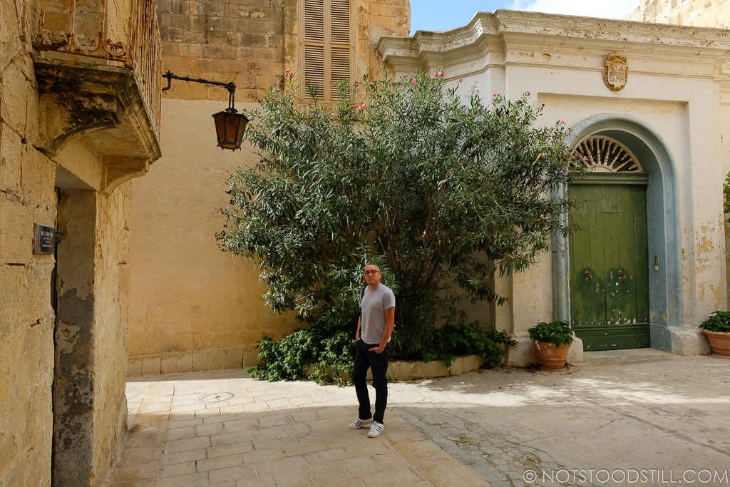 Getting lost in the old medieval streets of Mdina.