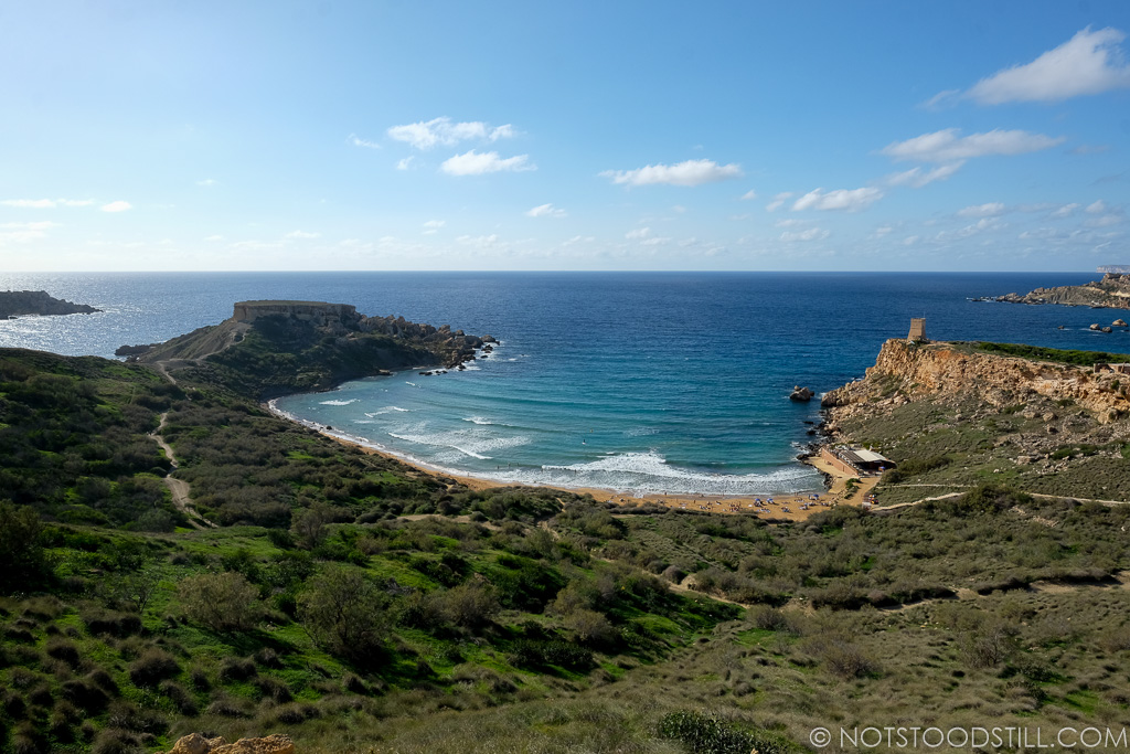 On the Southern part of Malta lies Golden Bay.