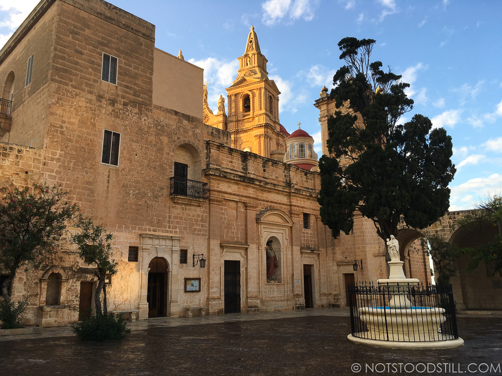 The courtyard of the Parish Church of Mellieha.